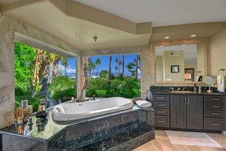 Thespa-like master bathroom.