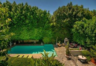 The private backyard pool.