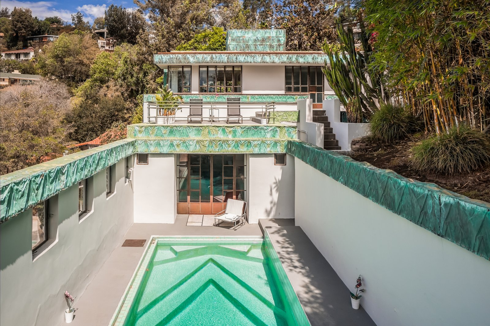 Lloyd Wright's Iconic Samuel-Novarro House Lists For $4.3M