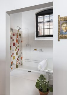 The renovation introduced modern bathrooms into the building.