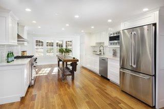 The bright, renovated kitchen.