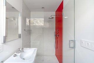 The lower-level bathroom.