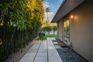 The home enjoys an extra sense of privacy thanks to the bamboo which borders the yard.