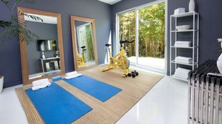 There is even a home gym.