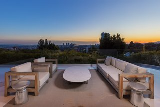 A stunning sunset on the terrace.