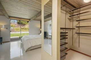 The master also features a large walk-in closet with a built-in closet organizing system.