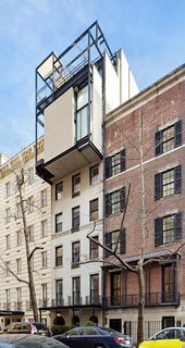 With four levels and five private terraces, the penthouse cantilevers over Beekman Place in Manhattan.