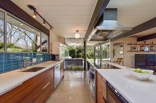 One of the home's highlights is the lanai. Set right off the kitchen, the outdoor porch connects seamlessly to the home.