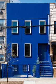 An All-Blue House in Bushwick Brings Big Color to the Neighborhood