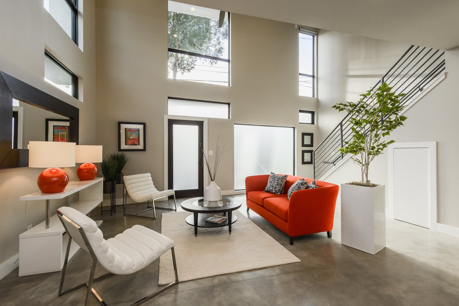 Living Room  El Camino Real Triplex by Todd Davis Architecture