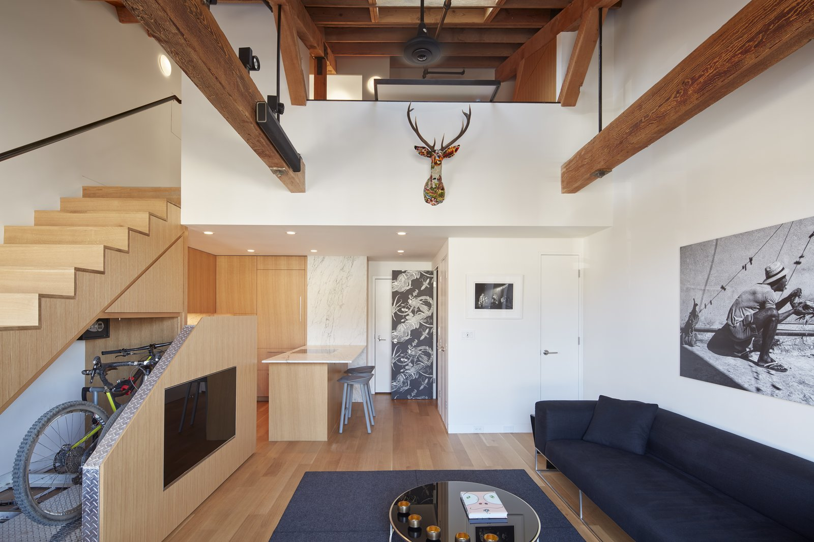 Living Room  York Street Loft by Todd Davis Architecture