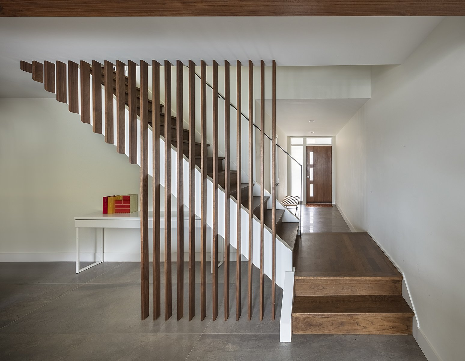 Staircase, Wood Tread, Wood Railing, and Metal Railing Stair  51 Nebraska