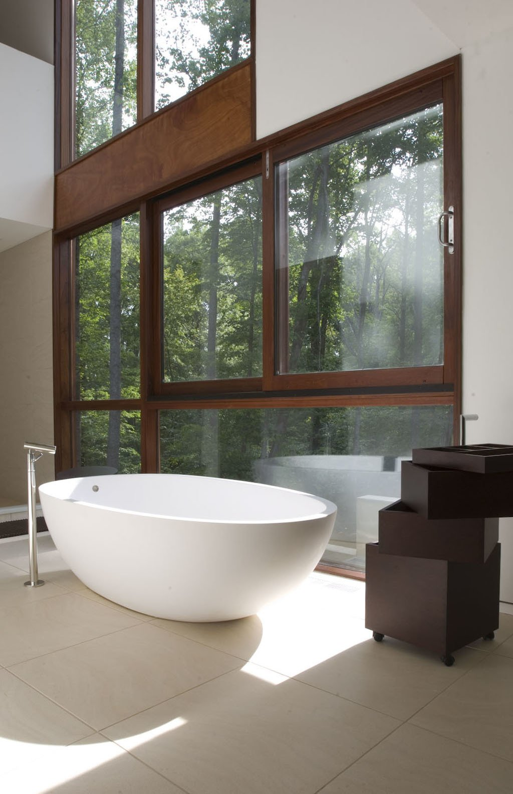 Bath Room and Freestanding Tub  Photo 27 of 40 in 40 Modern Bathtubs That Soak In the View from Bathroom