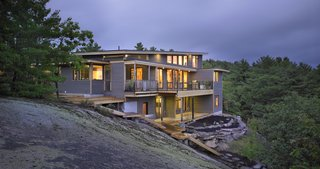 Turkel Design's Georgian Bay House Energy Conscious in the Canadian Shield