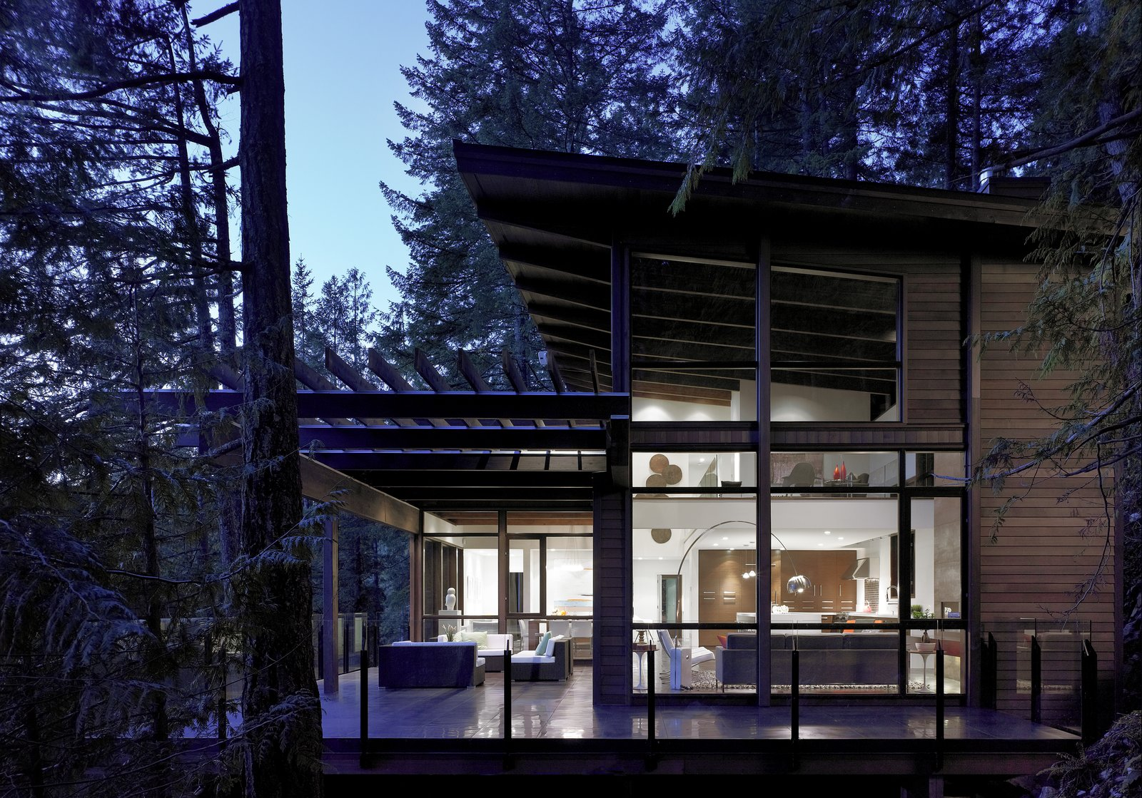 Exterior, Cabin Building Type, Wood Siding Material, and House Building Type  Photo 2 of 6 in Turkel Design's Award-Winning Gambier Island House