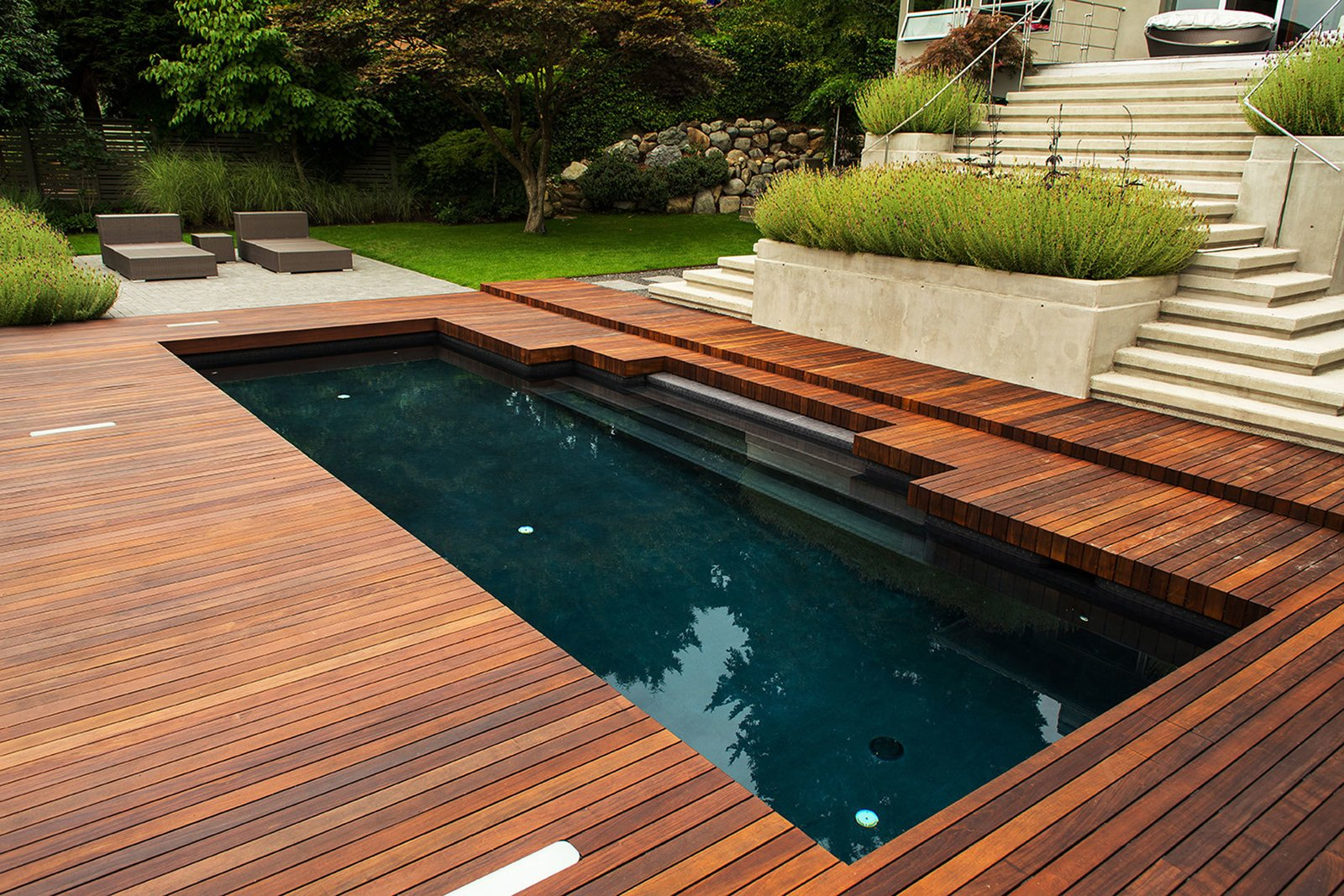 Black Pool  Photo 6 of 12 in Take a Plunge Into These Enticing Modern Pools