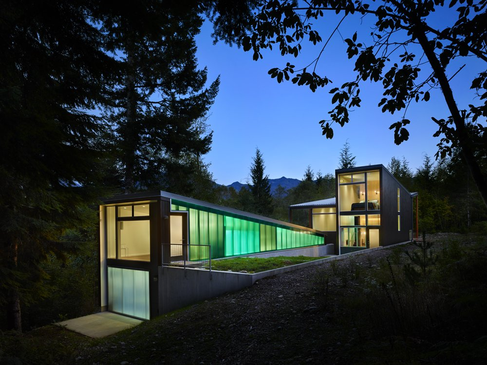 Exterior, Cabin Building Type, Wood Siding Material, Metal Roof Material, and Shed RoofLine  Bear Run Cabin by David Coleman / Architecture
