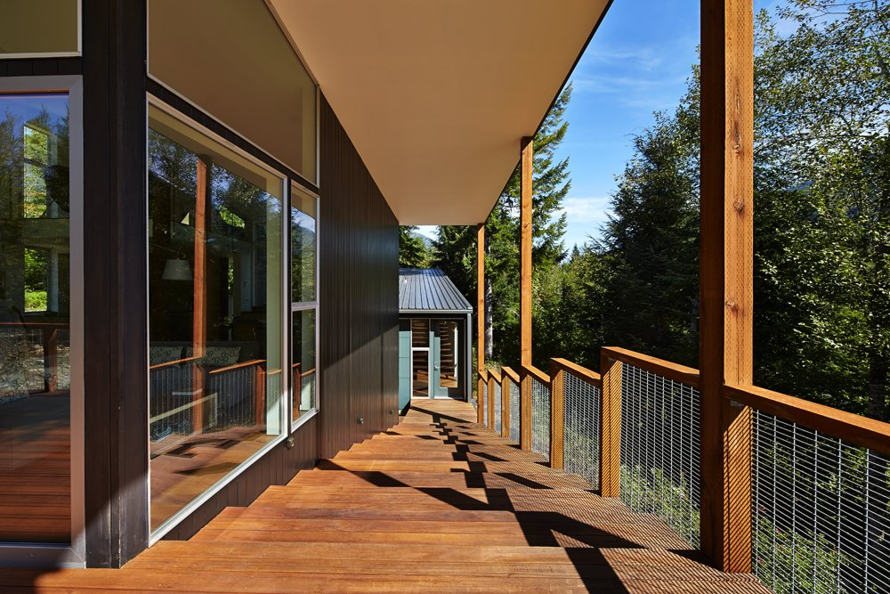 Staircase, Metal Railing, and Wood Tread  Bear Run Cabin by David Coleman / Architecture