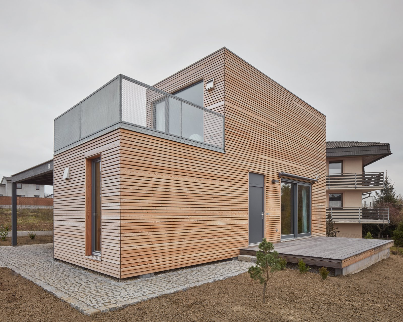 Exterior, Metal Siding Material, Wood Siding Material, House Building Type, Flat RoofLine, and Glass Siding Material  Freedomek No.061 by BoysPlayNice Photography & Concept