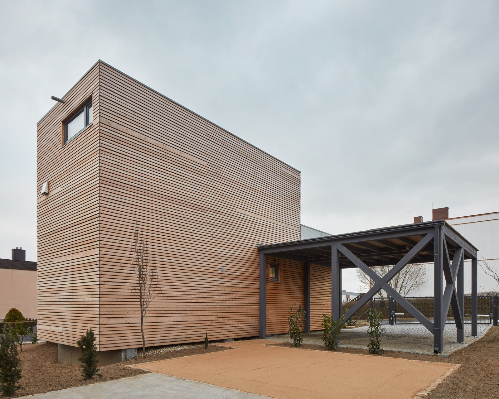 Exterior, Metal Siding Material, House Building Type, Wood Siding Material, and Flat RoofLine  Freedomek No.061 by BoysPlayNice Photography & Concept