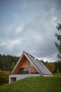 This Mountain Hideaway in the Czech Republic Burrows Into a Meadow