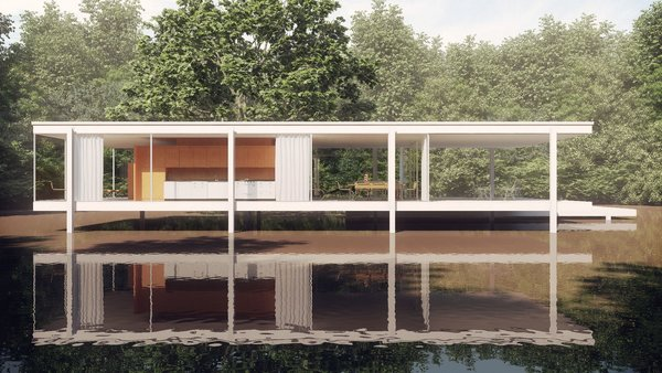 samo house from Farnsworth House