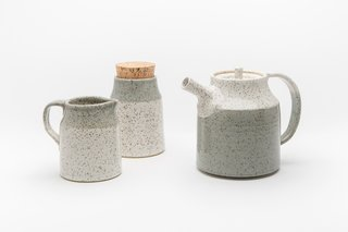 Ceramic stoneware tea set by Vancouver's Dahlhaus.