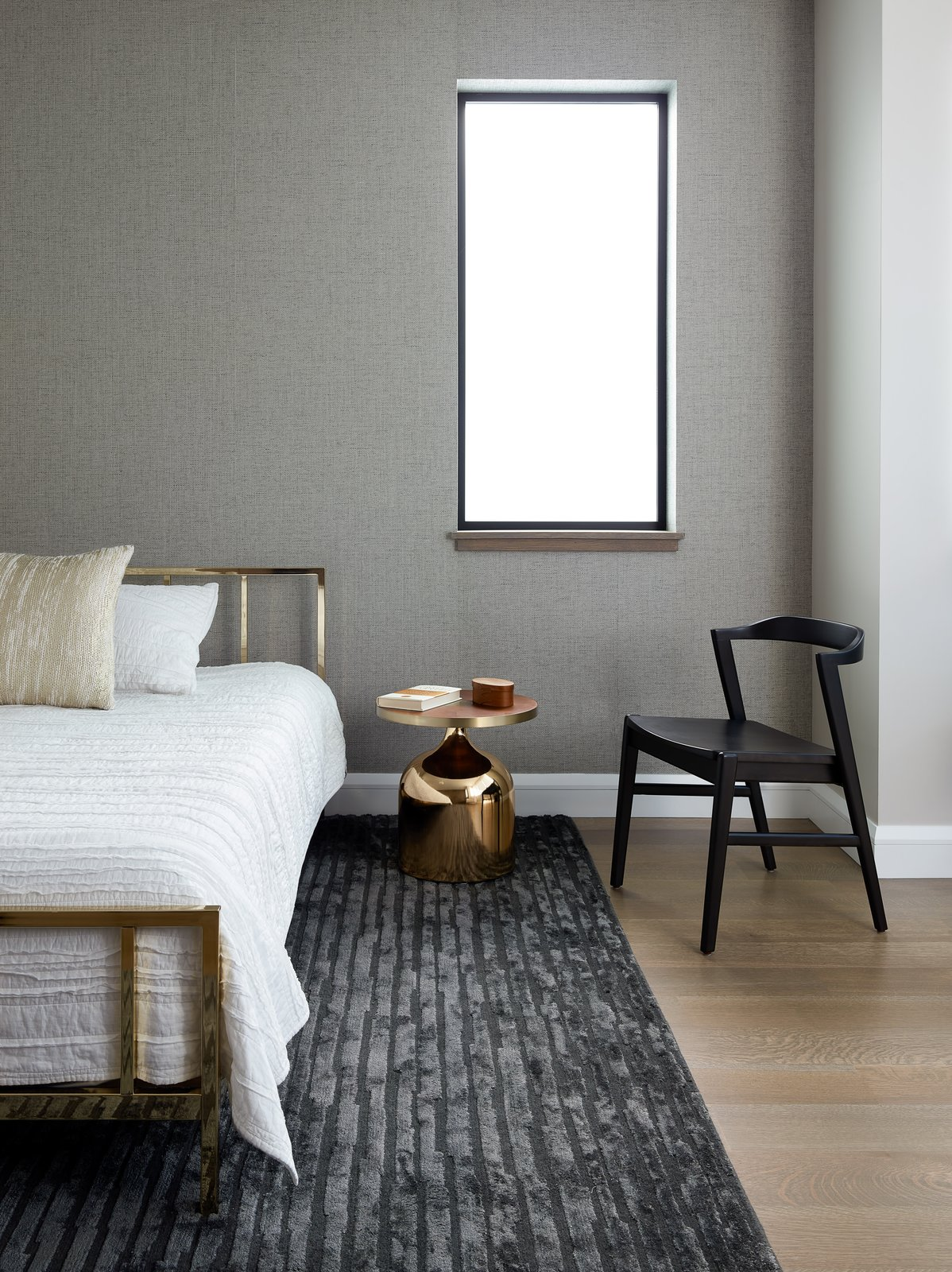 Bedroom, Light Hardwood Floor, Bed, Chair, and Night Stands  Noe Valley III by Feldman Architecture