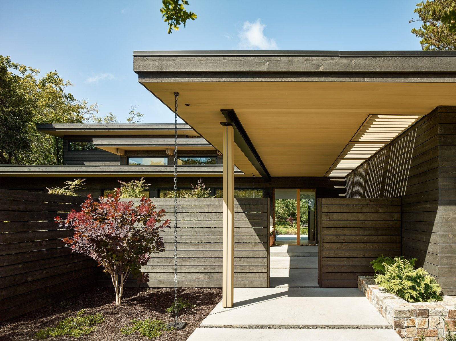 Exterior, House Building Type, Flat RoofLine, and Wood Siding Material  Photos from Portola Valley Ranch