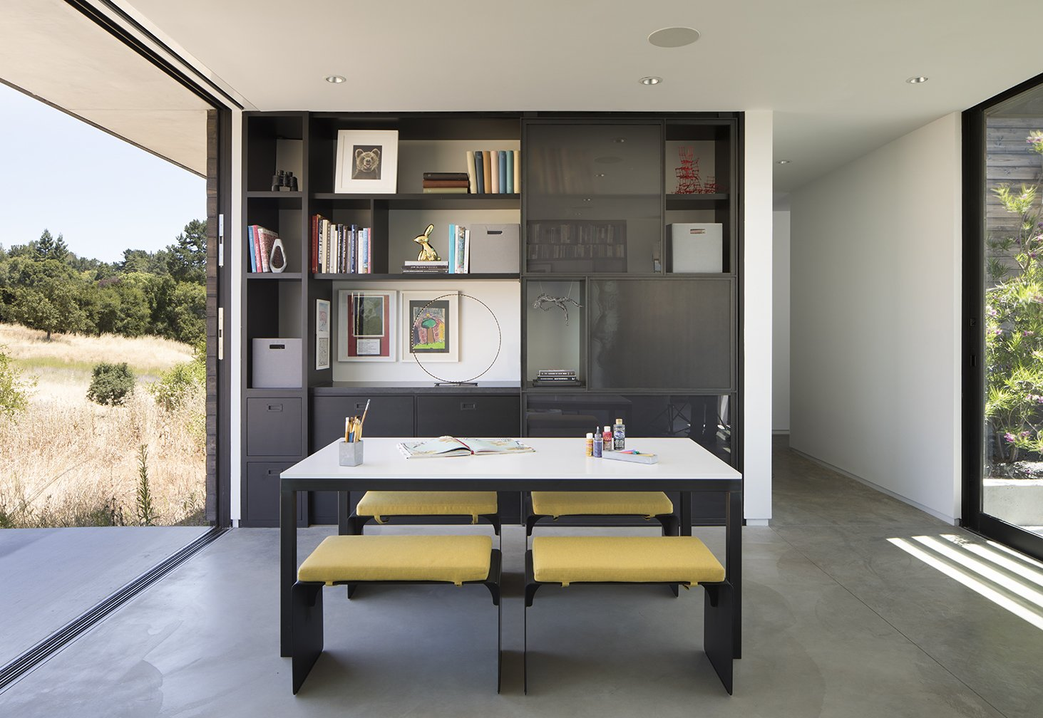 Dining Room  The Meadow Home by Feldman Architecture