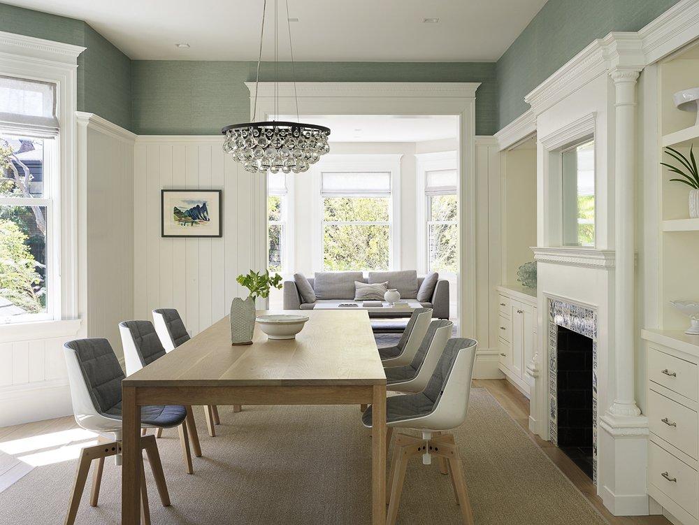 Dining Room, Table, and Light Hardwood Floor  The Farm by Feldman Architecture