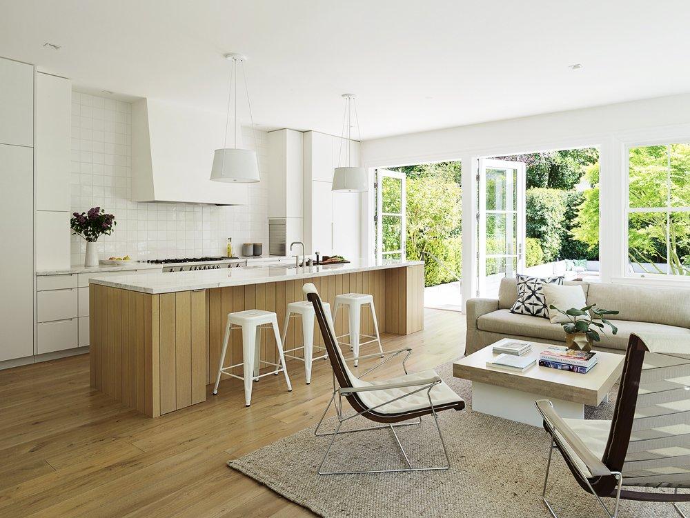 Kitchen, Light Hardwood Floor, and White Cabinet  The Farm by Feldman Architecture