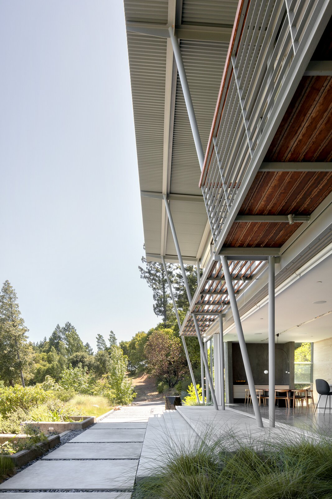 Exterior, Metal Roof Material, Flat RoofLine, and Glass Siding Material  Photo 2 of 11 in A Minimalist House Stands Out in a Wild Landscape from Sunrise