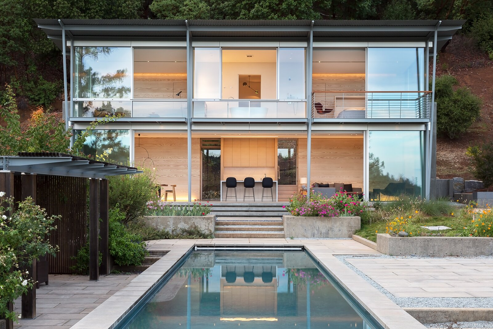 Exterior, Flat RoofLine, House Building Type, Metal Roof Material, and Glass Siding Material  Dwell's Favorite Photos from Sunrise