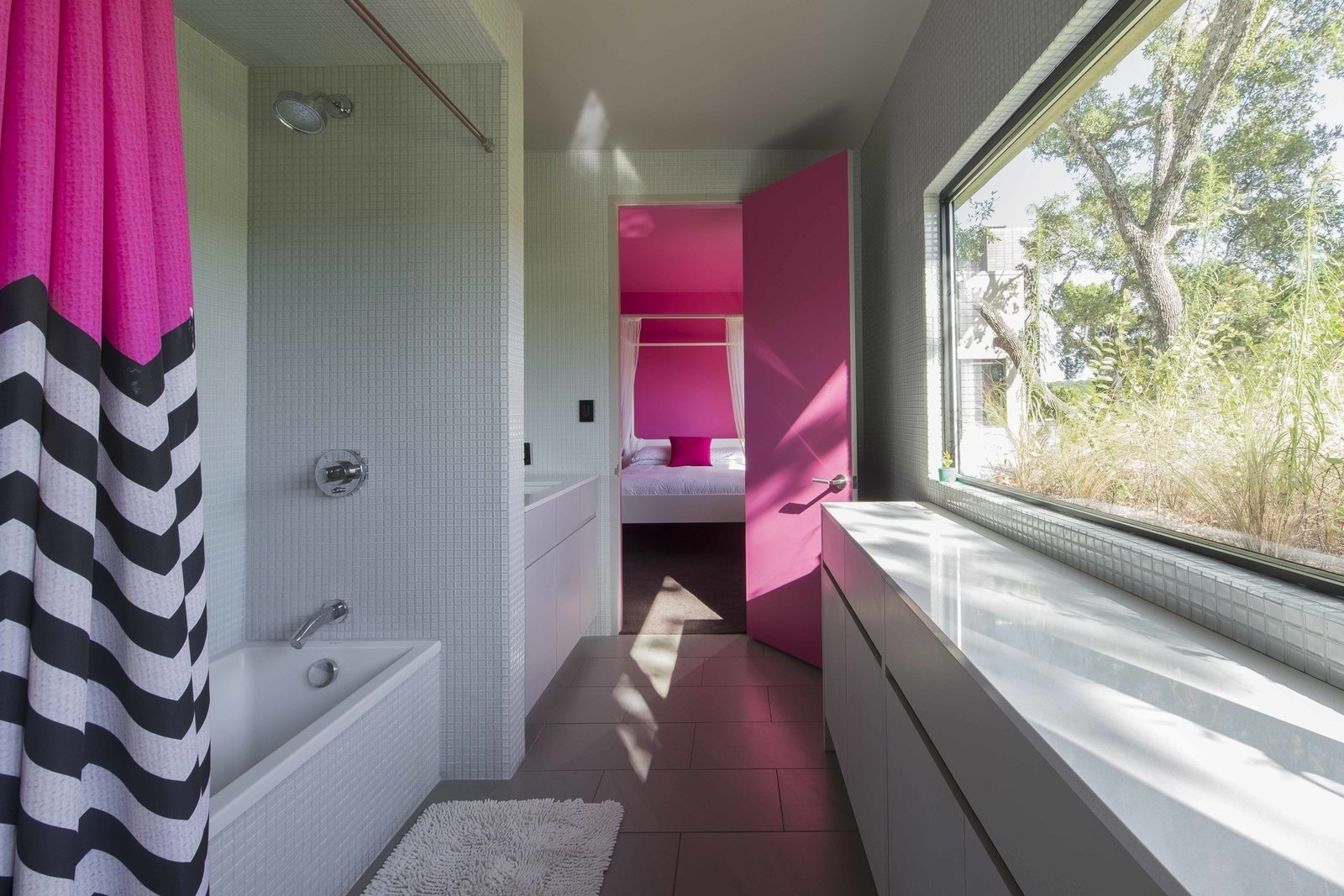 Each bedroom in the house contains dedicated storage space for guests, and improvement Paul and Jessica added after they started hosting.  Photo 7 of 8 in An Austin Airbnb Is a Blissful Getaway