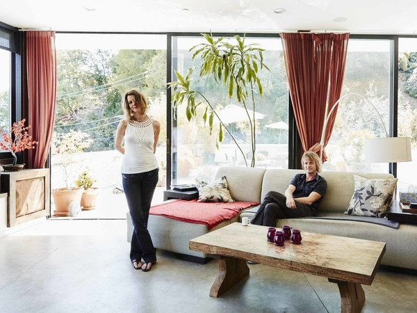 Hosting through Airbnb not only helped finance the couple's dream home, it inspires their design.