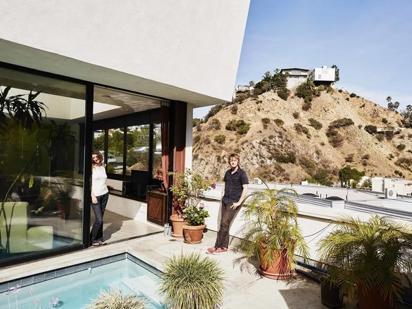The couples's latest project is an outdoor living room, which will take full advantage of the south California climate.