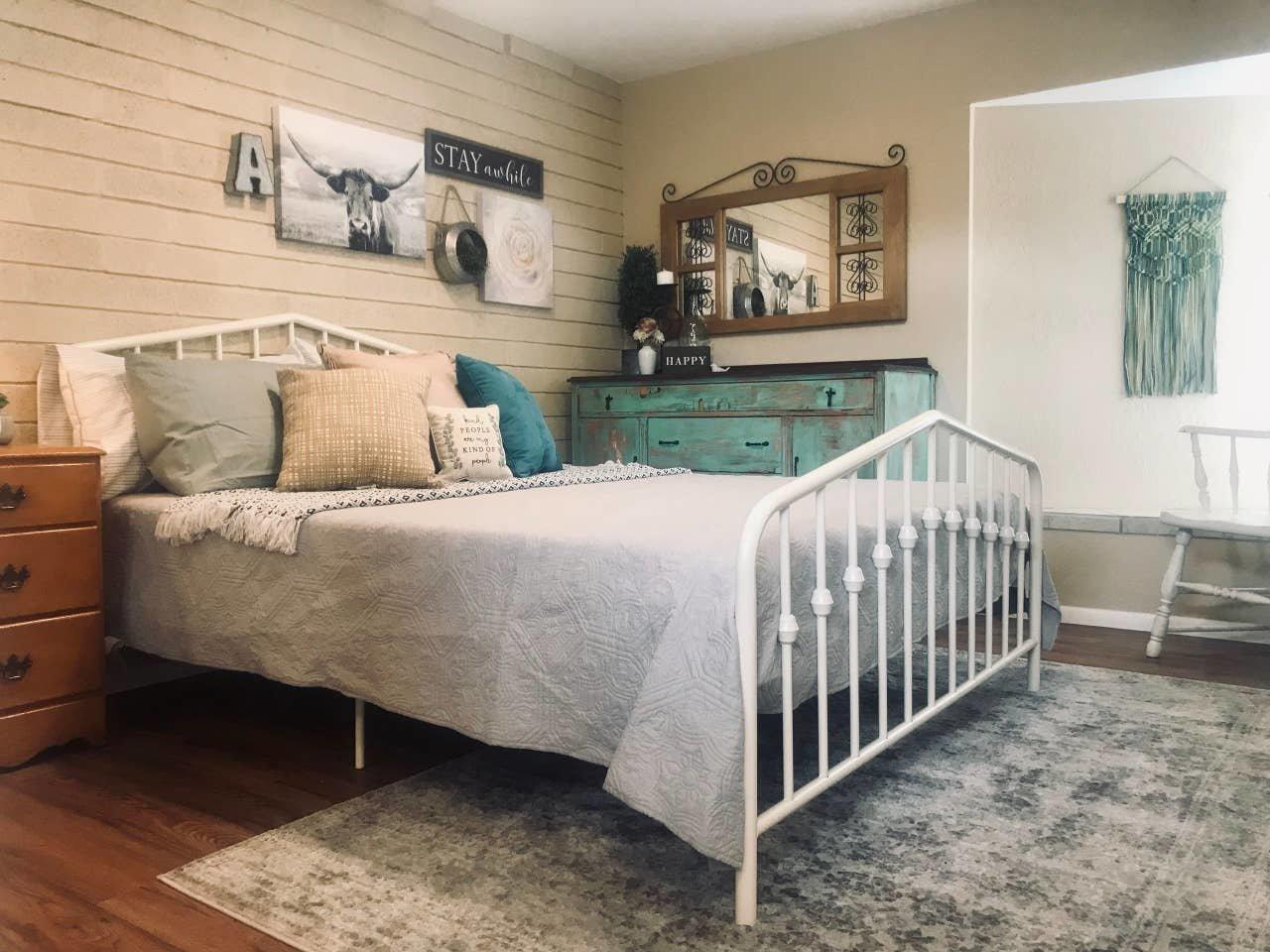 Bedroom, Bed, Dresser, and Vinyl Floor  Nakomis Dwellings