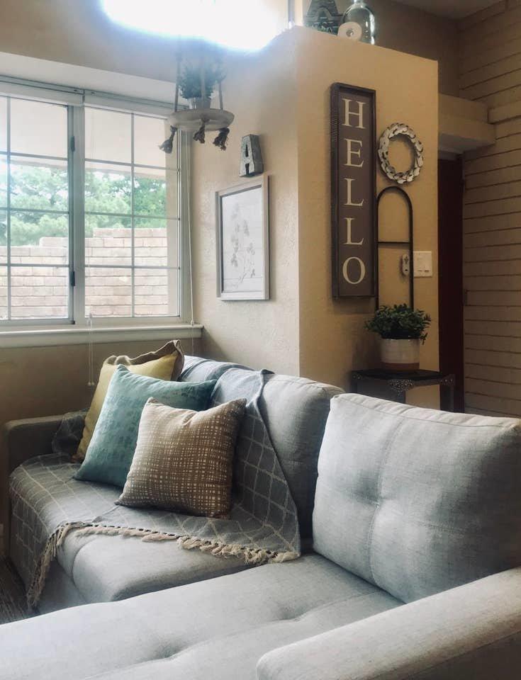 Living Room, Sofa, and Ceramic Tile Floor  Nakomis Dwellings