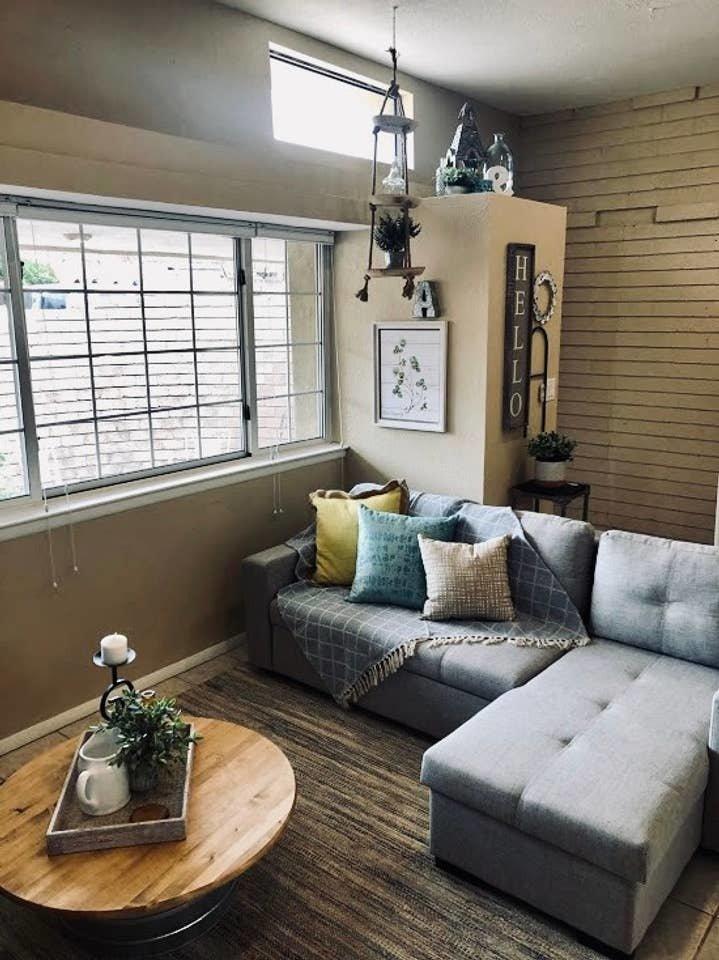 Living Room, Ceramic Tile Floor, and Sofa  Nakomis Dwellings