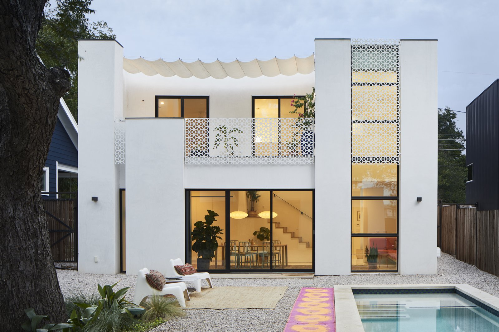 Exterior, Stucco Siding Material, House Building Type, and Flat RoofLine  Casa Marrakech