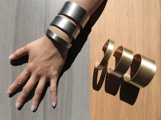 Principal Ron Radziner launched Marmol Radziner Jewelry in 2010, inspired by a strip of metal he had found on the beach and worn as a cuff. He approached the metal shop and requested a patina that matched the custom hardware of his home at the time.