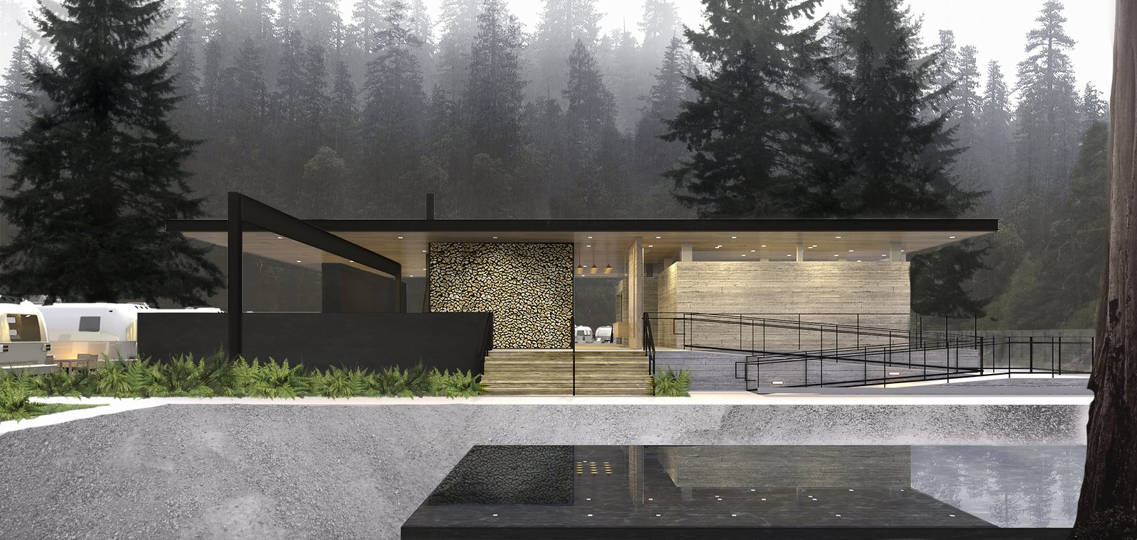 Photo 1 of 7 in AutoCamp's Modern Clubhouse Emerges from the Russian River Redwoods