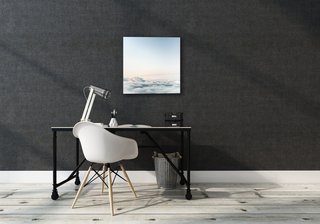 """The canvas comes in four sizes: 24"""" x 24"""", 24"""" x 36"""", 36"""" x 36"""", and 36"""" x 48"""". Soundwall also honors custom orders in size and material and allows you to upload your own images."""