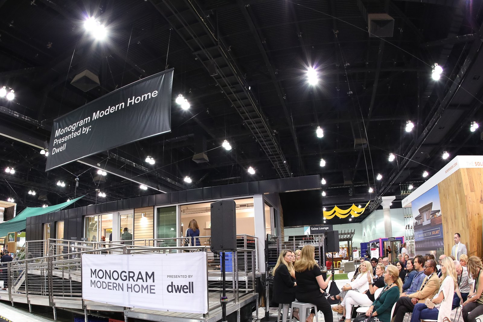 The home joined over 300 exhibiting brands and 2,000 modern furnishings and products at Dwell on Design. The prefab's builder, Method Homes, also staffed an adjacent booth on the show floor.  Photo 2 of 6 in Monogram Modern Home Tour Joins the Los Angeles Design Scene