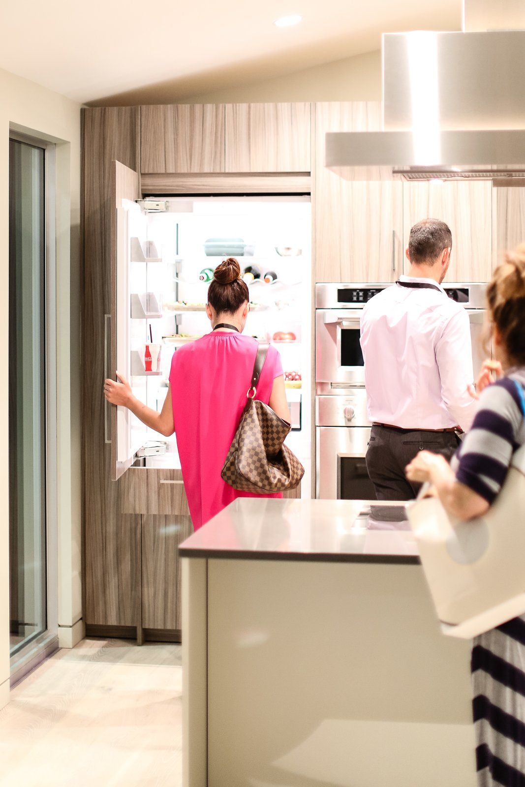"""The open house provided visitors the opportunity to interact with Monogram appliances in a natural setting. """"The definition of technology isn't just electronics, it's the functionality that can improve people's lives,"""" noted Blecker during the panel, summing up how an intuitive kitchen serves the consumer.  Photo 6 of 6 in Monogram Modern Home Tour Joins the Los Angeles Design Scene"""