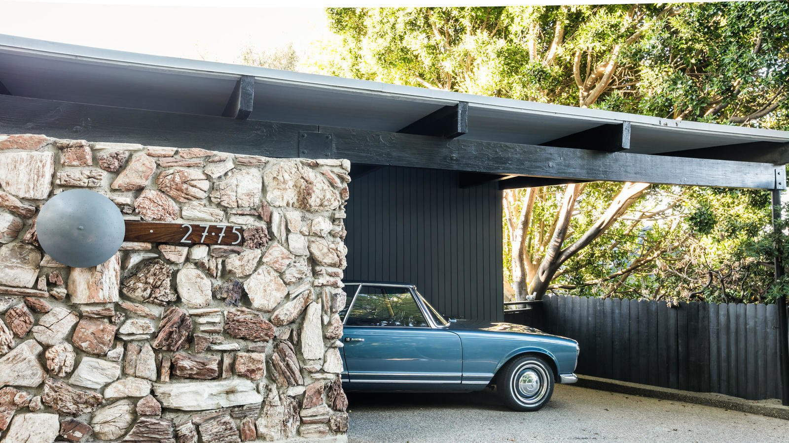 A carport ensures that you arrive at your new home in style.  Photo 10 of 10 in Own a Piece of Hollywood History for $1.995M