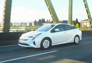 "Kodama's favorite aspect of Prius is the side view. ""You can recognize the evolution from previous Prius models, and it's also easy to distinguish the aim and differentiation between each hybrid or plugged-in hybrid vehicle model,"" he says. Toyota's 2016 Prius has a lower hood and character lines that sweep along the sides, creating an sleek, athletic shape."