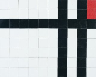Philip Johnson took the work of Piet Mondrian as inspiration.