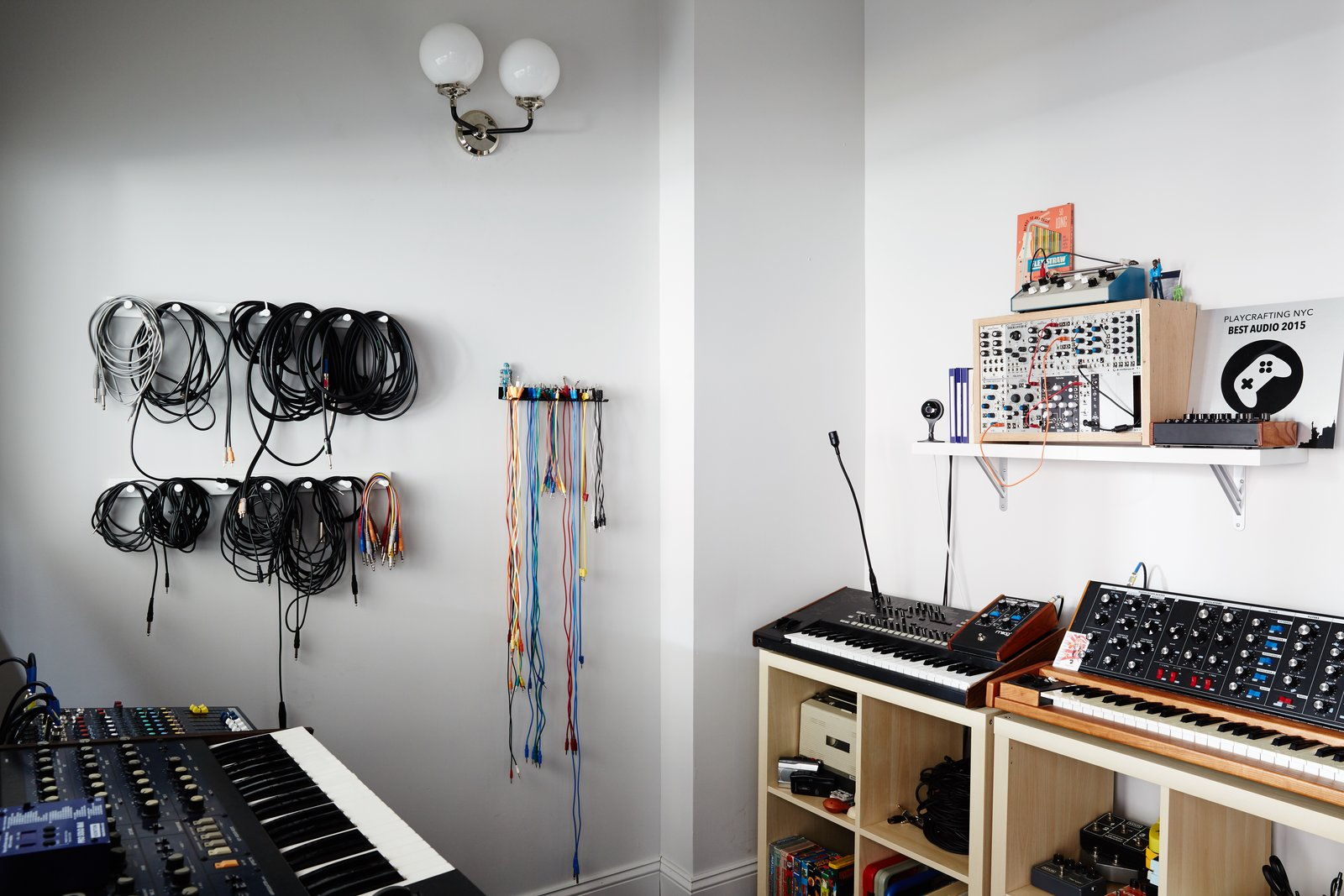 A fully insulated, soundproof room gives the musicians free reign to produce and record.  Photo 11 of 12 in Space to Work, Room to Play